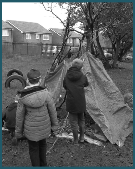 Forest School Shelter building